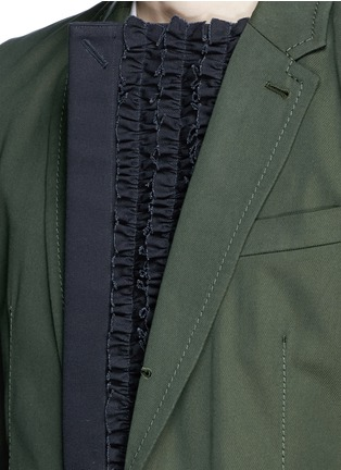 Detail View - Click To Enlarge - Sacai - Ruffle underlay Cavalry twill blazer