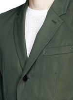 Ruffle underlay Cavalry twill blazer