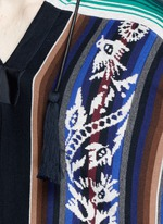 Baja floral stripe intarsia poncho