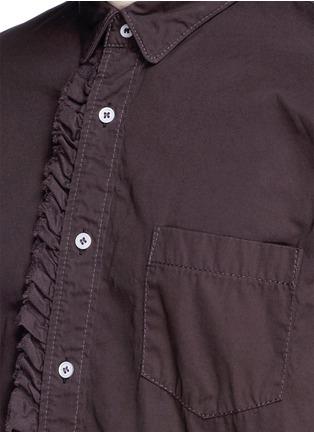 Detail View - Click To Enlarge - Sacai - Ruffle rib waist cotton shirt
