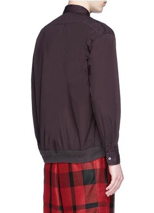Back View - Click To Enlarge - Sacai - Ruffle rib waist cotton shirt