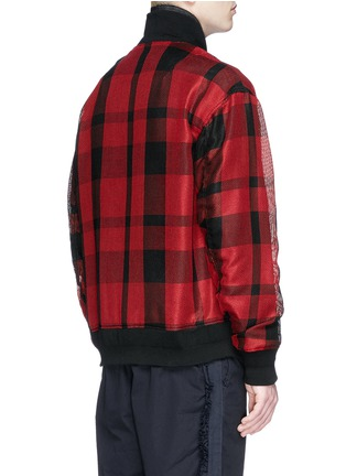 Back View - Click To Enlarge - Sacai - Buffalo check extended underlay bomber jacket