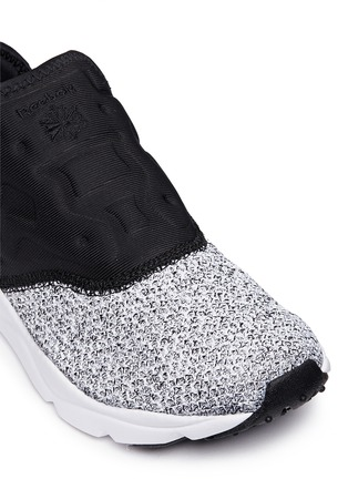 Detail View - Click To Enlarge - Reebok - 'FuryLite' waffle knit neoprene slip-on sneakers