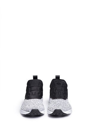 Front View - Click To Enlarge - Reebok - 'FuryLite' waffle knit neoprene slip-on sneakers