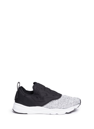 Main View - Click To Enlarge - Reebok - 'FuryLite' waffle knit neoprene slip-on sneakers