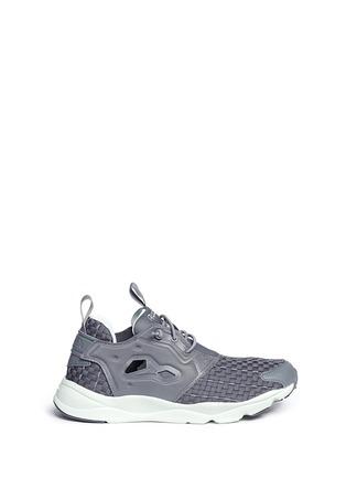 Main View - Click To Enlarge - Reebok - 'FuryLite New' basketweave sneakers