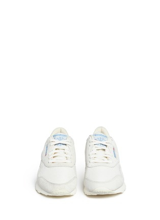 Front View - Click To Enlarge - Reebok - 'CL Nylon Vintage' suede trim sneakers