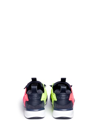 Back View - Click To Enlarge - Reebok - 'Furylite Asymmetrical' contrast panel sneakers