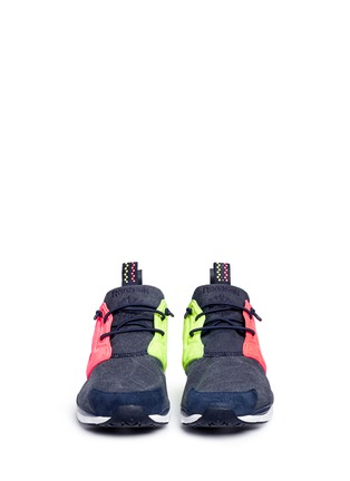 Front View - Click To Enlarge - Reebok - 'Furylite Asymmetrical' contrast panel sneakers