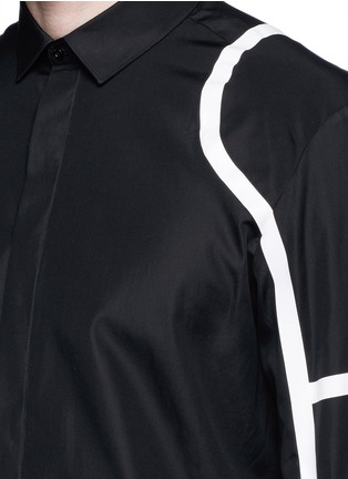 Detail View - Click To Enlarge - Neil Barrett - Biker stripe cotton poplin shirt