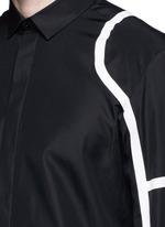 Biker stripe cotton poplin shirt