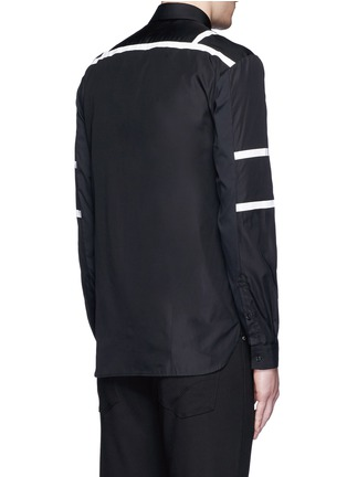 Back View - Click To Enlarge - Neil Barrett - Biker stripe cotton poplin shirt