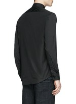 Thunderbolt stud collar poplin shirt