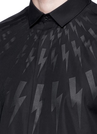 Detail View - Click To Enlarge - Neil Barrett - Thunderbolt print poplin shirt