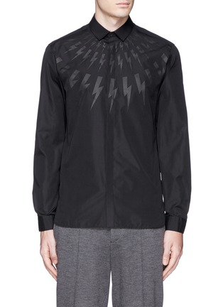 Main View - Click To Enlarge - Neil Barrett - Thunderbolt print poplin shirt