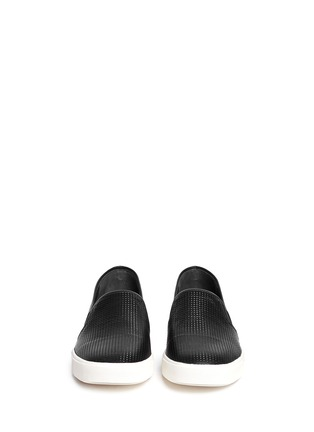 Figure View - Click To Enlarge - Vince - 'Blair' perforated leather skate slip-ons