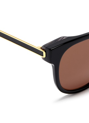Detail View - Click To Enlarge - Thierry Lasry - 'Authority' metal temple marbled corner acetate sunglasses