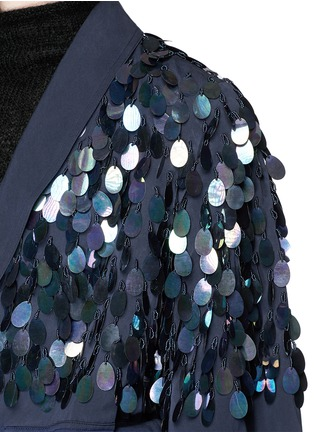 Detail View - Click To Enlarge - Dries Van Noten - 'Rome' beaded paillette washed cotton coat