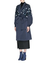 'Rome' beaded paillette washed cotton coat