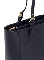 York' leather buckle tote