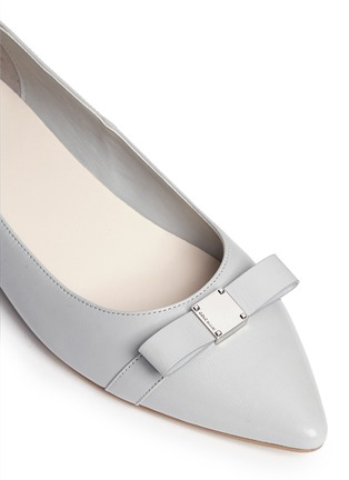 Detail View - Click To Enlarge - Cole Haan - 'Juliana' bow leather flats