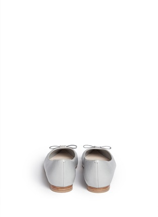 Back View - Click To Enlarge - Cole Haan - 'Juliana' bow leather flats