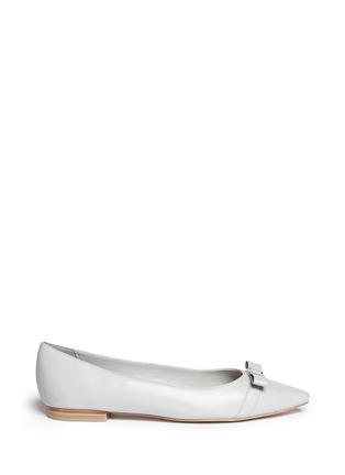 Main View - Click To Enlarge - Cole Haan - 'Juliana' bow leather flats