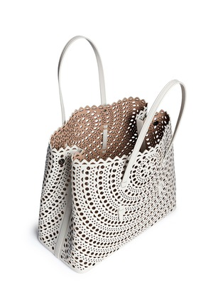 Azzedine Alaïa - 'Vienne' perforated leather tote