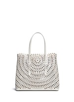 'Vienne' perforated leather tote