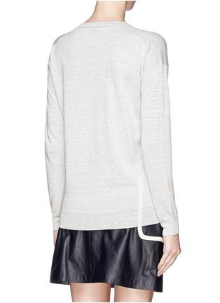 背面 - 点击放大 - THEORY - 'Trulinda B' linen-wool blend sweater