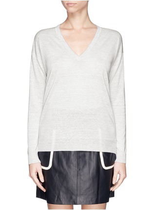 首图 - 点击放大 - THEORY - 'Trulinda B' linen-wool blend sweater