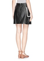 'Strailia' contrast binding leather skirt