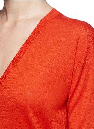 Theory-'Trulinda' V-neck mélange sweater