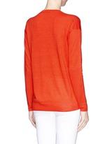 'Trulinda' V-neck mélange sweater