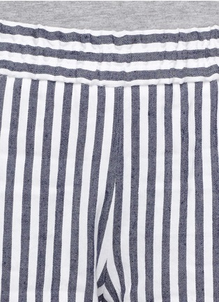 Detail View - Click To Enlarge - Theory - 'Korita' stripe cotton-linen pants