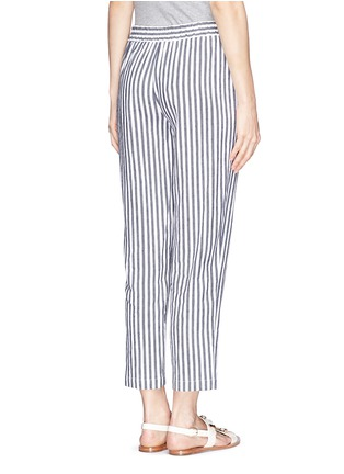Back View - Click To Enlarge - Theory - 'Korita' stripe cotton-linen pants