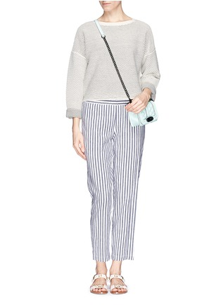 Figure View - Click To Enlarge - Theory - 'Korita' stripe cotton-linen pants