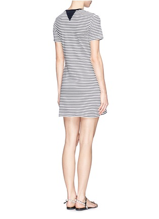 Back View - Click To Enlarge - Theory - 'Cherry' stripe T-shirt dress