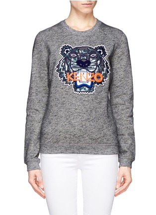Main View - Click To Enlarge - KENZO - Beaded tiger embroidery sweatshirt