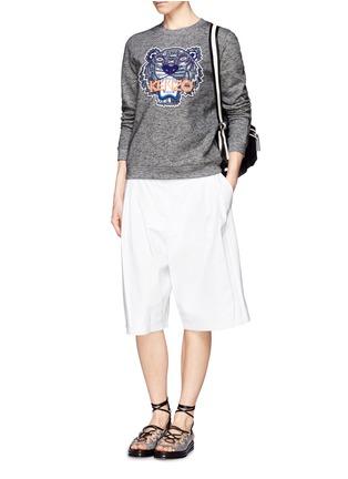 KENZO-Beaded tiger embroidery sweatshirt