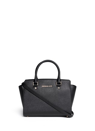 Main View - Click To Enlarge - Michael Kors - 'Selma' medium saffiano leather satchel