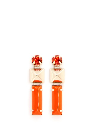 Main View - Click To Enlarge - Valentino - Stud strass earrings