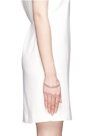 Figure View - Click To Enlarge - Valentino - Crystal metal bangle