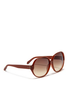 LINDA FARROW Slim oversized acetate sunglasses