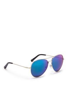 MATTHEW WILLIAMSONx Linda Farrow mirror aviator sunglasses
