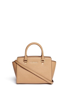MICHAEL MICHAEL KORS 'Selma' medium saffiano leather satchel