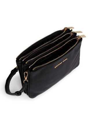 Detail View - Click To Enlarge - Michael Kors - 'Bedford' gusset leather crossbody bag