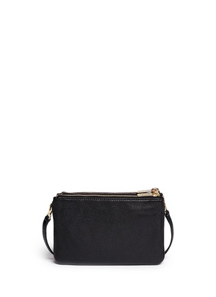 Back View - Click To Enlarge - Michael Kors - 'Bedford' gusset leather crossbody bag