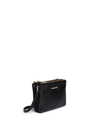 Front View - Click To Enlarge - Michael Kors - 'Bedford' gusset leather crossbody bag