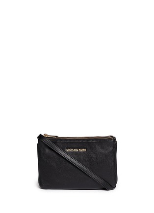 Main View - Click To Enlarge - Michael Kors - 'Bedford' gusset leather crossbody bag